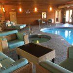lounge area near pool
