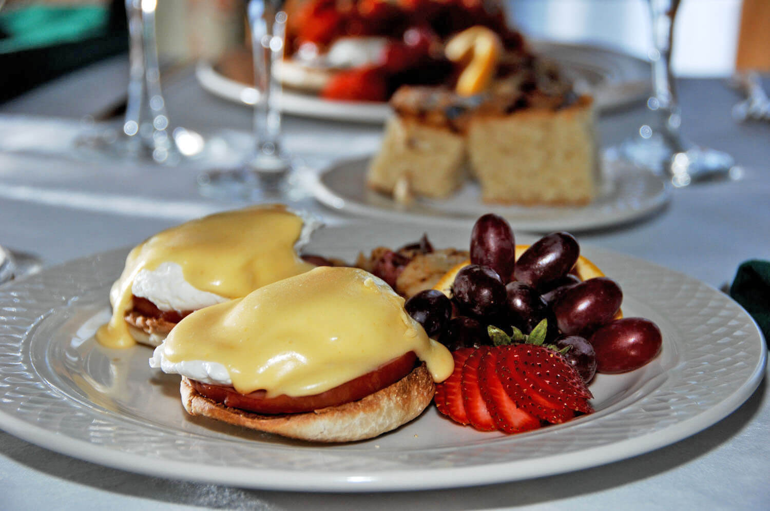 Eggs Benedict at The French Manor Restaurant