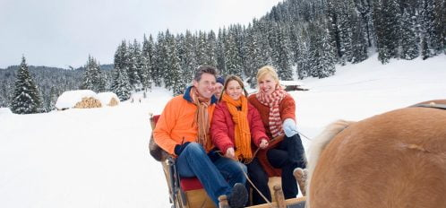 Horse-drawn sleigh rides in Poconos, PA is an exclusive opportunity for those visiting in the winter.