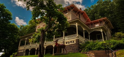 the asa packer mansion view from the front