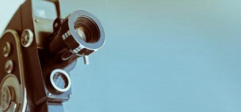 Vintage movie camera at Black Bear Film Festival