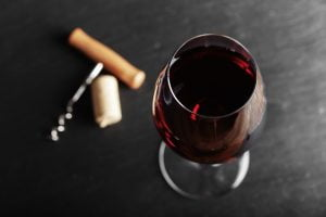 red wine at Bartolai Winery