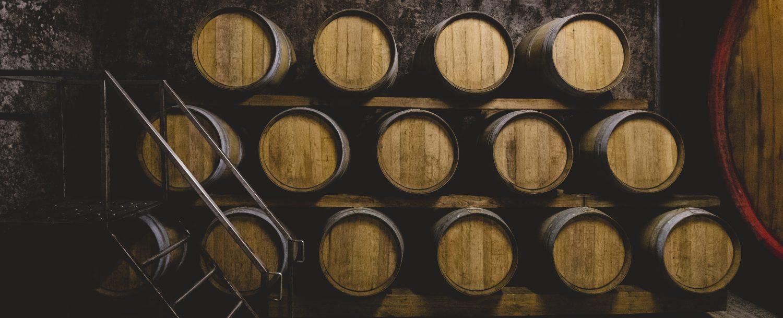 Wine barrels at Bartolai Winery