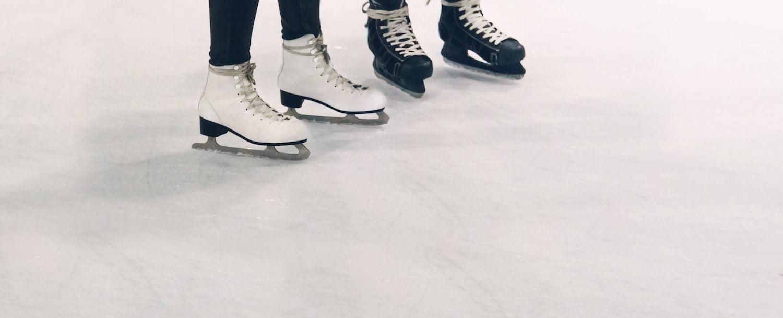 People ice skating in the Poconos.