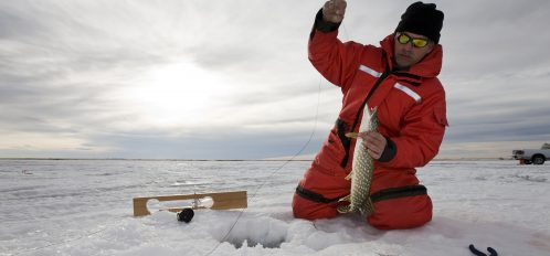 Try ice fishing in the Poconos this year!