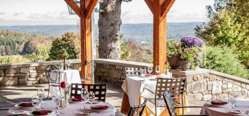 French Manor Dining on the Terrace