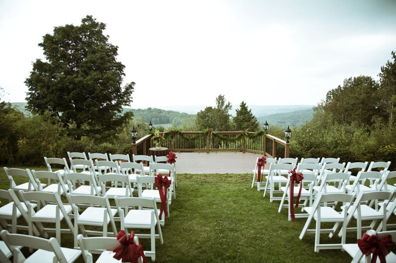 Outdoor ceremony poconos