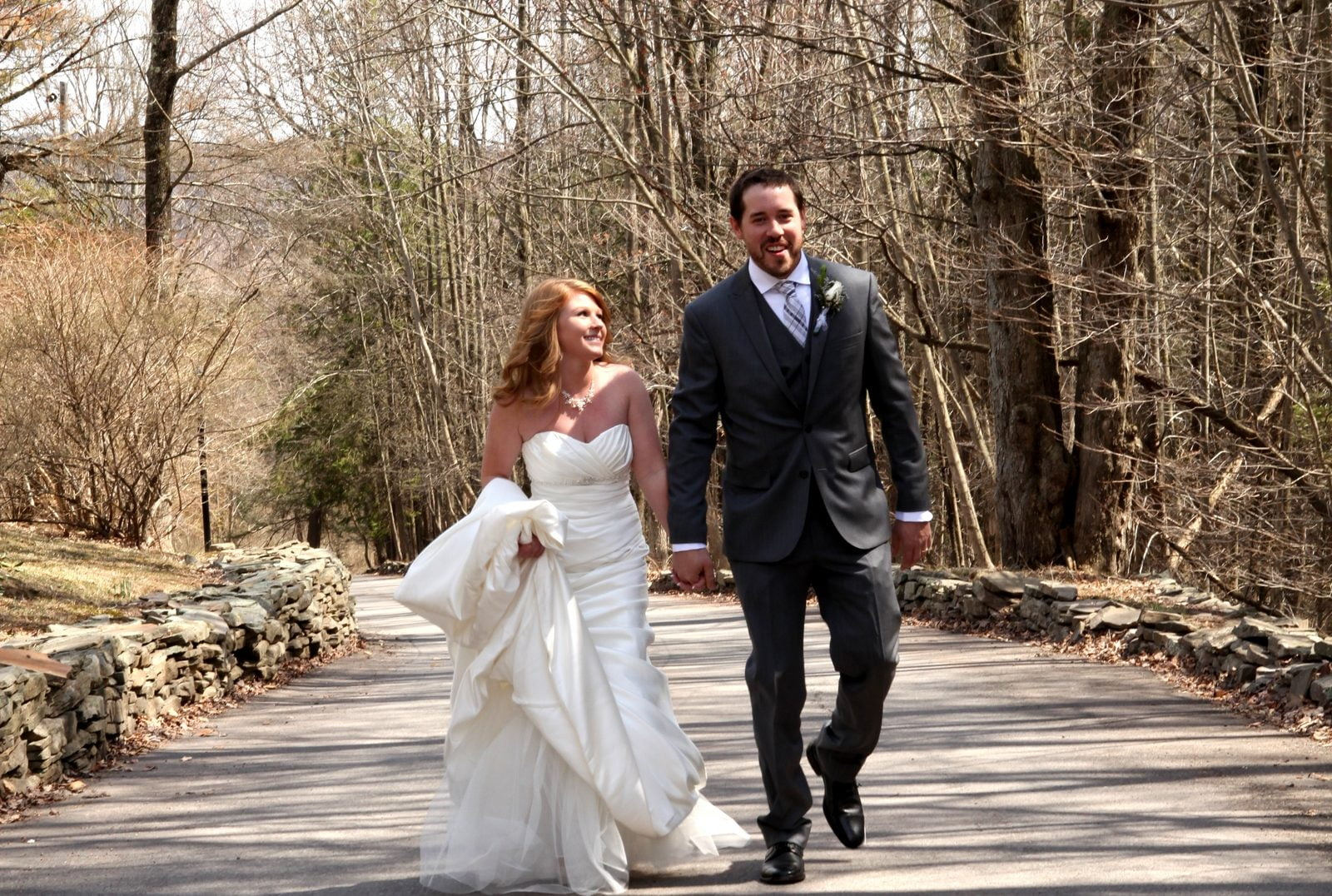 small intimate poconos outdoor wedding