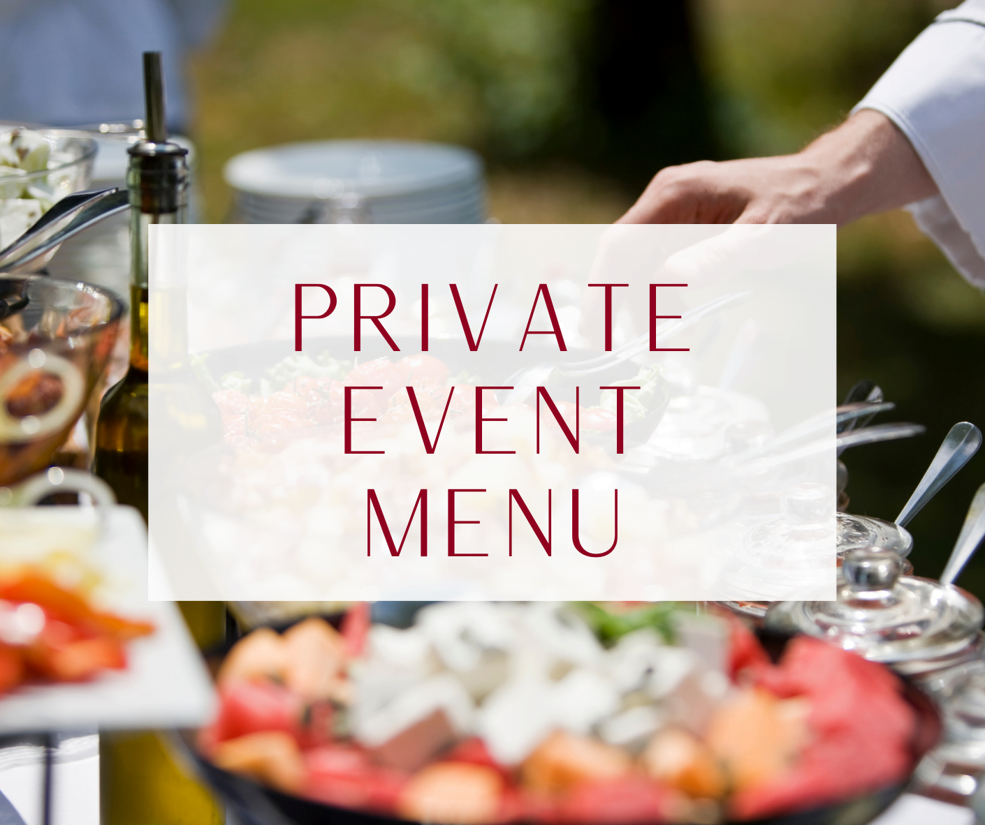 French Manor Private Event Menu